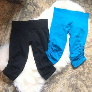 BONESY Lululemon In the Flow Crops, size 10.